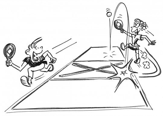 Comic: Symbolbild der Übung.