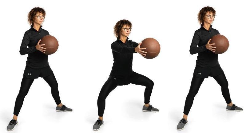 Entrainement Avec Le Medecine Ball Jambes Et Fessiers V Step Mobilesport Ch