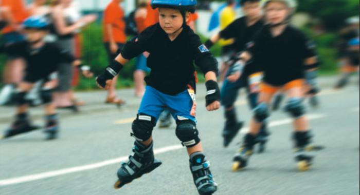 Esercizio quotidiano per bambini: Inline skating