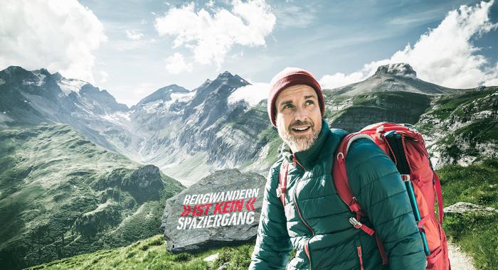 Kampagne: Bergwandern ist kein Spaziergang
