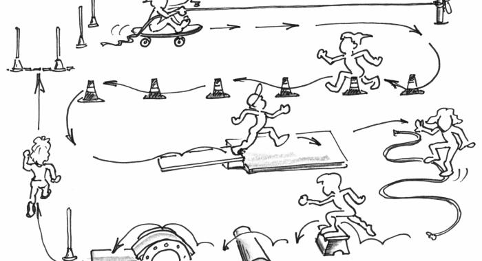 Muoversi di più nella scuola dell'infanzia – Sequenze guidate all'aperto: Allenamento di sci