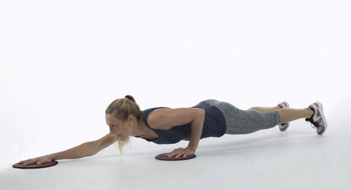 Training zu Hause für Jugendliche und Erwachsene: Workout mit Sliding Pads