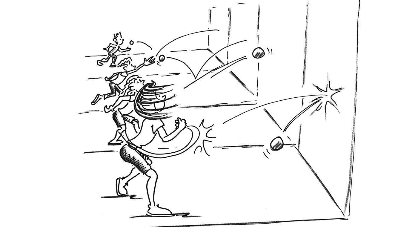 Comic: One-Wall-Ball
