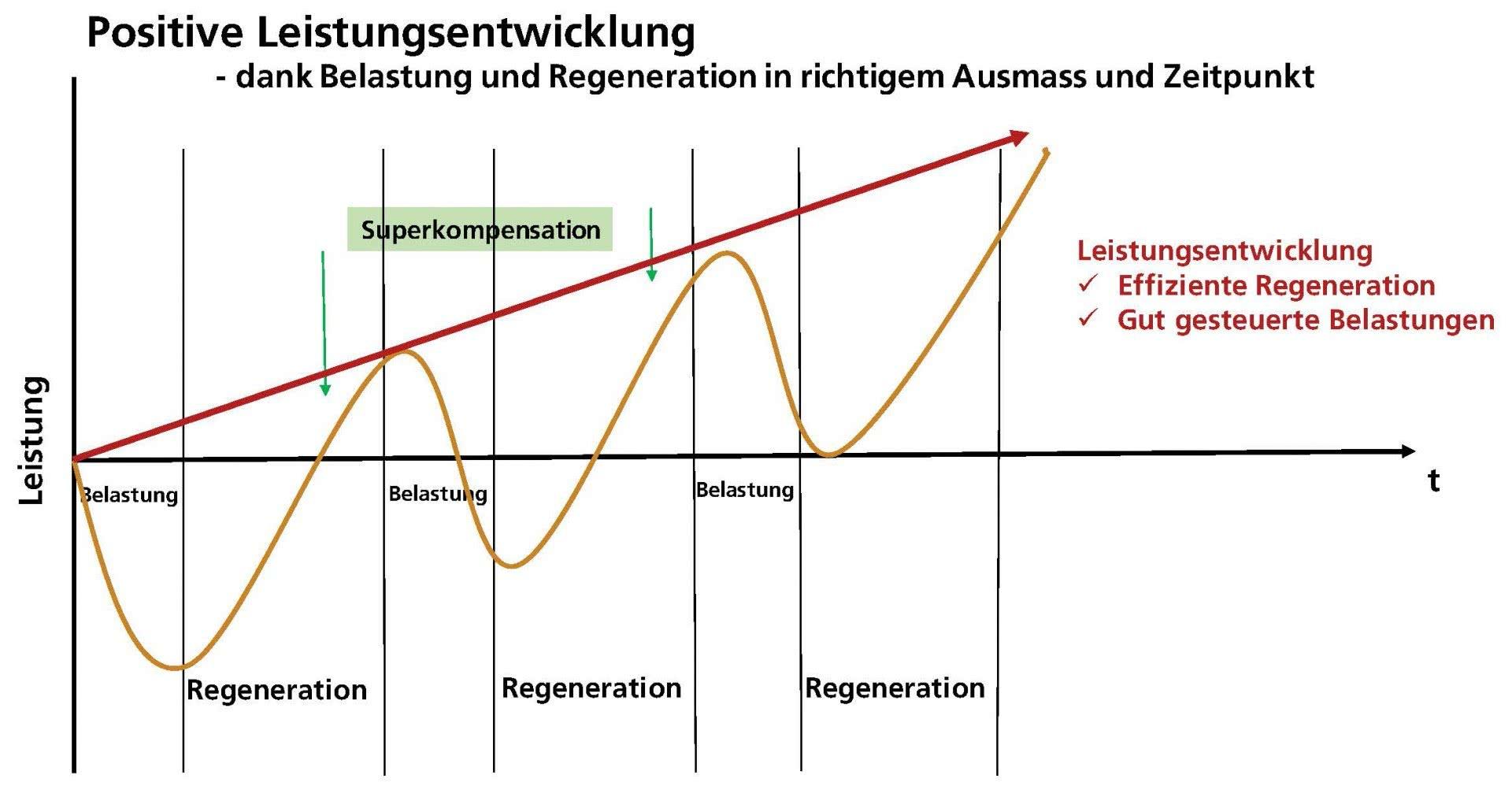 Grafik: positive Leistungsentwicklung.