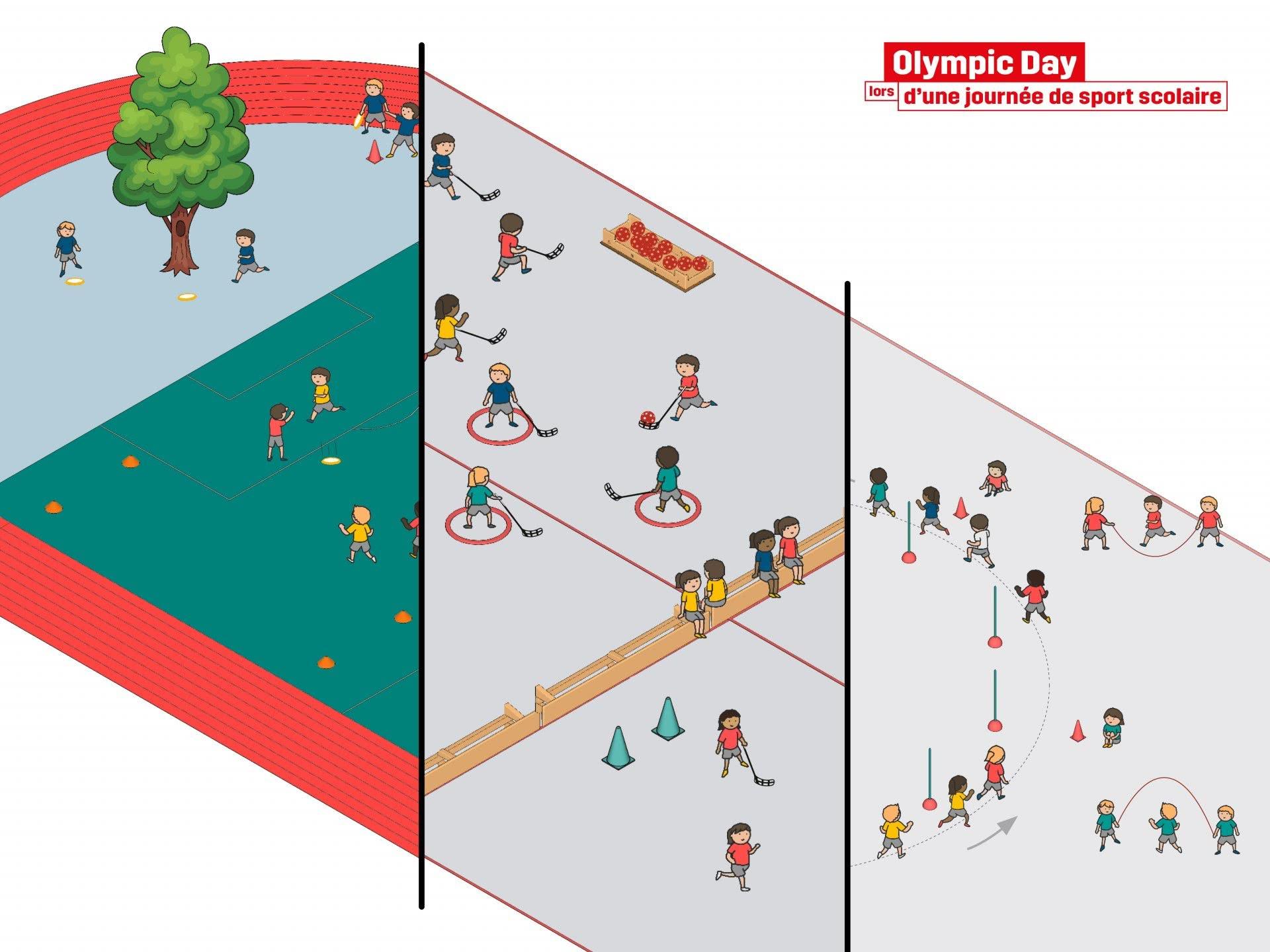Key-Visual Olympic Day 2021 Swiss Olympic.