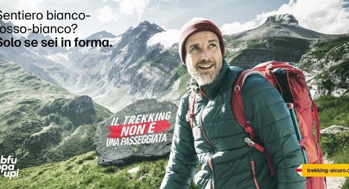 Campagna di prevenzione: Il trekking non è una passeggiata
