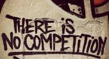 """Symbolbild  """"Kein Wettbewerb""""."""