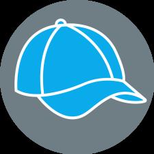 Symbolbild: hellblaues Cap