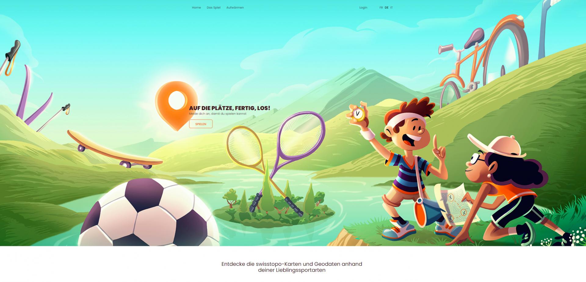Screenshot Startseite www.schatz-karte.ch