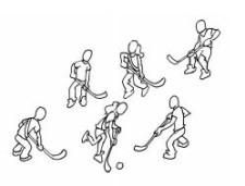 Bild: Sechs Personen spielen sich einen Ball zu.