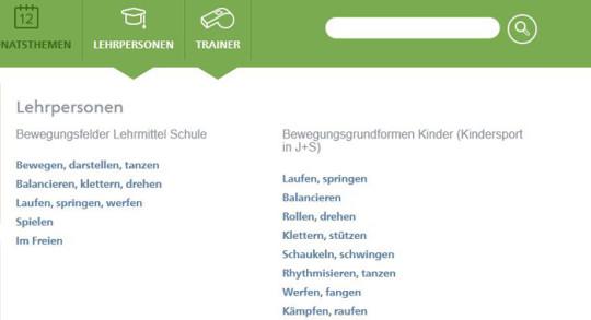 Screenshot Zugang Lehrpersonen