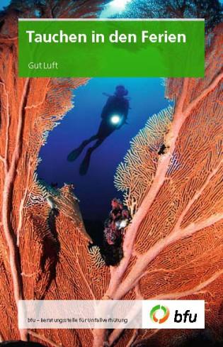 Taucher hinter Koralle