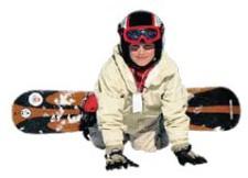 J+S-Kids – Snowboard: Leçon 1 «Découvrir l'espace neige»