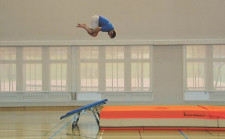 À l'article: Mini-trampoline: Salto groupé