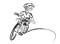 In bicicletta – Esercitare l'abilità: Con una mano