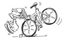 Velofahren: Hinterrad in die Höhe
