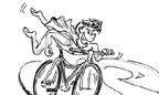 À l'article: A vélo: Superman