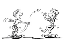 Erwachsenensport spielerische ausdauer mobilo wurfspiel - Turnen mit kissen ...