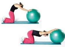 swissball stretching etirement du dos. Black Bedroom Furniture Sets. Home Design Ideas