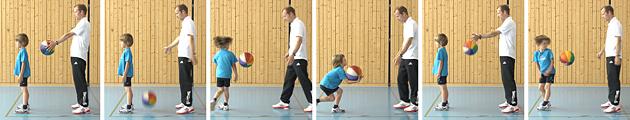 Athlétisme – Tests: 1.2 Attrape-balle – Niveau 1 (U8)