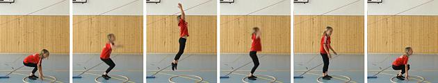 Athlétisme – Tests: 1.3 Tape en l'air – Niveau 1 (U8)