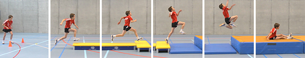 Leichtathletik – Tests: 4.3 Kasten-Weitsprung – Niveau 4 (U12/U14)