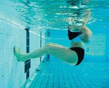 Fitness in acqua – Forza: Un calcio dopo l'altro
