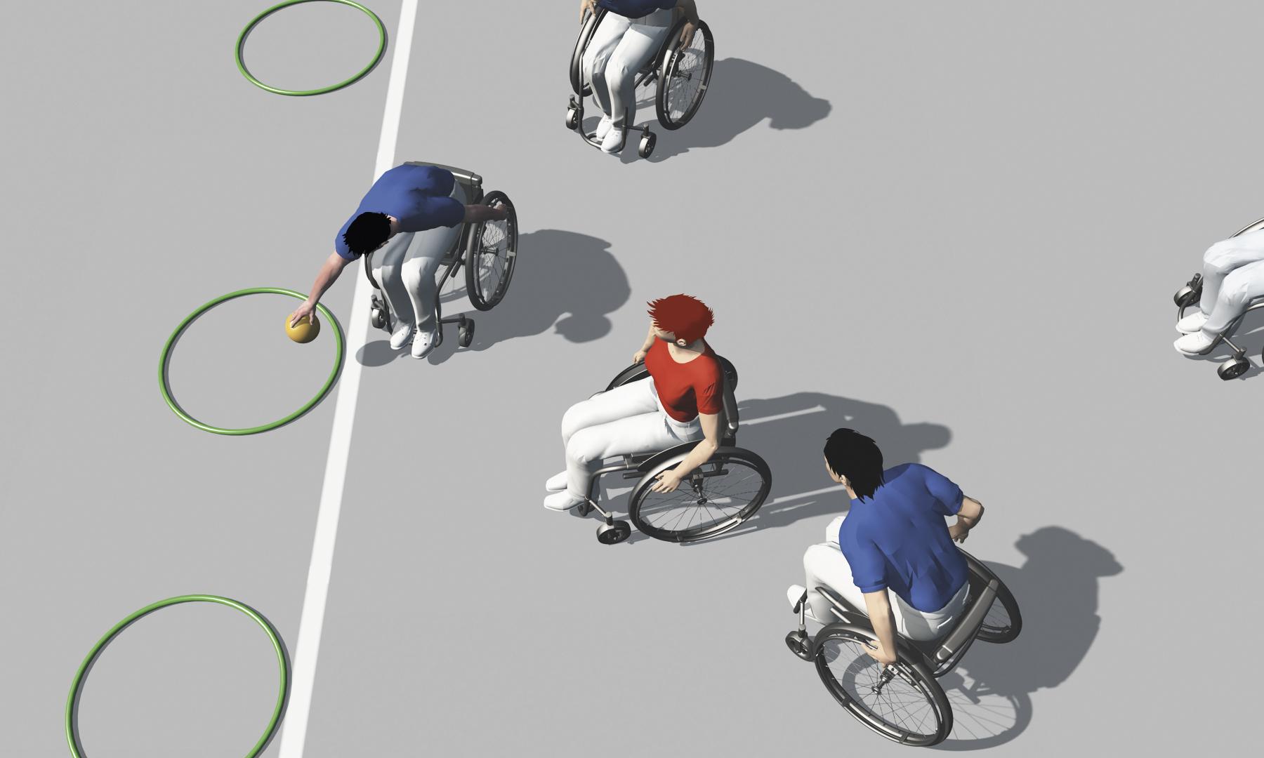 sport en fauteuil roulant exercices de base pour jeux d 233 quipe balle au cerceau 187 mobilesport ch