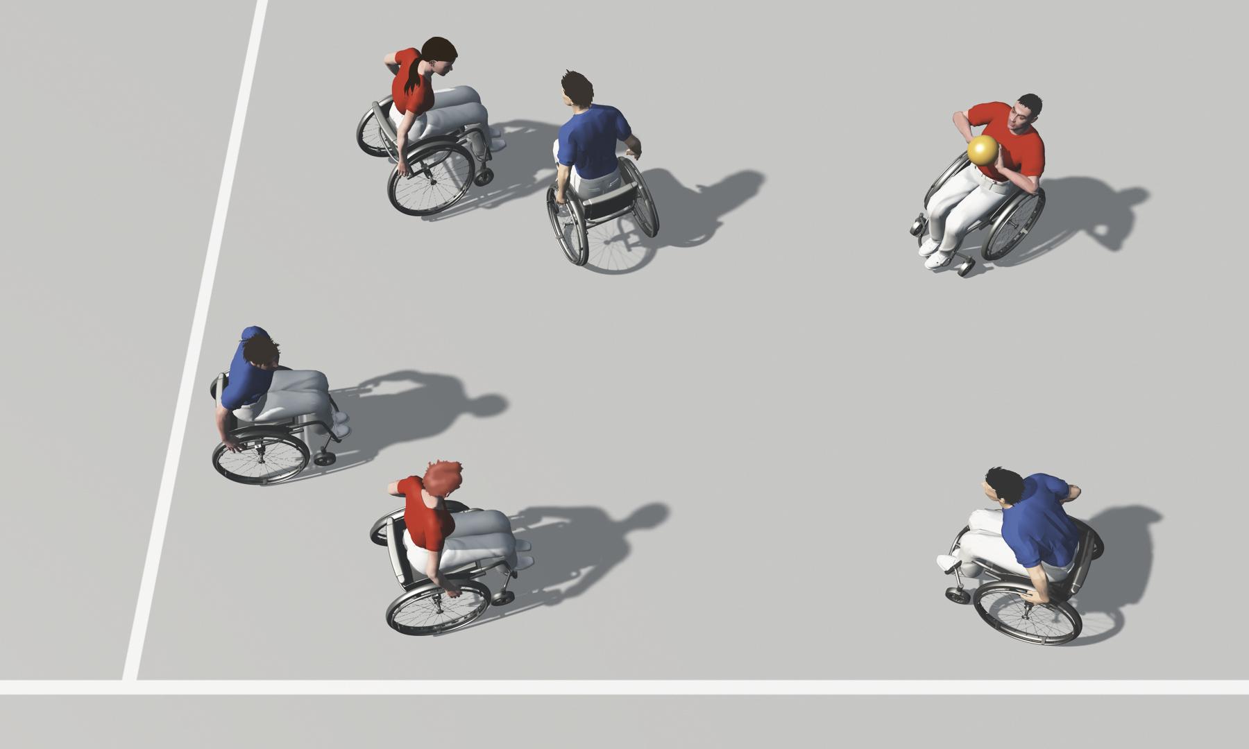sport en fauteuil roulant exercices de base pour jeux d 233 quipe lutte pour la balle