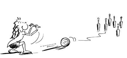 bowling comic