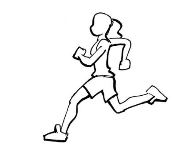 Vitesse course de 100m niveaux abc - Dessin de course a pied ...