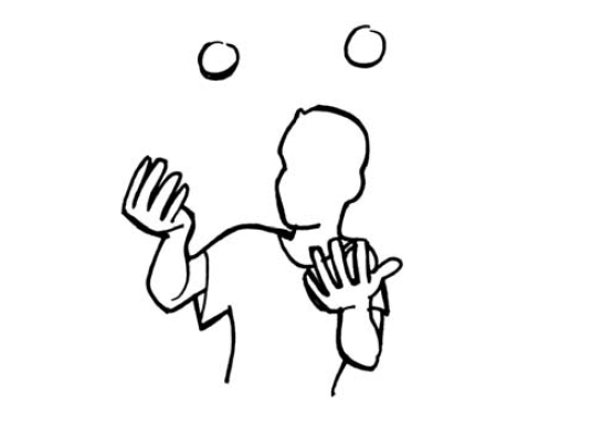 Koordination jonglage mit 3 b llen niveau a - Image jongleur cirque ...