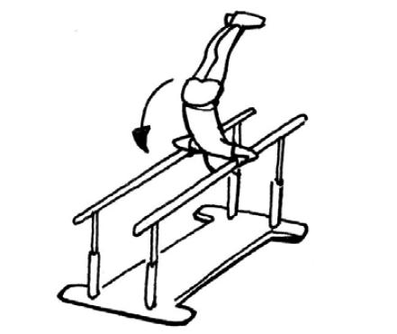 Sauter tourner se balancer se balancer niveau c for Danse passer sous une barre