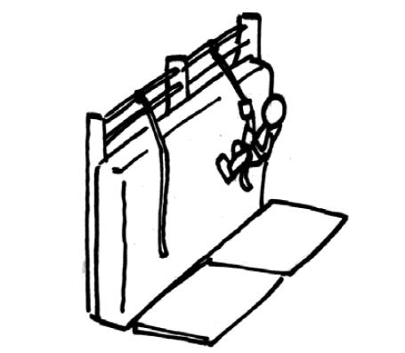 grimper escalader la paroi rocheuse au moyen d une corde niveau c. Black Bedroom Furniture Sets. Home Design Ideas