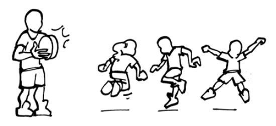 Rhythmisch hüpfen und springen hüpfend verwandeln niveau