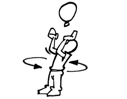 drehung um eigene körperachse beim tanzen