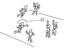Jouer: Balle à la ligne (niveaux ABC)