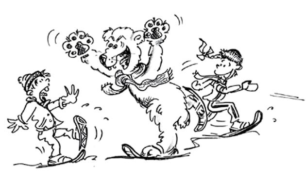 Raquettes neige ours blanc - Raquette dessin ...