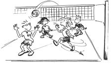 Fuemtto: un gruppo di ragazzi durante una partita di netzball