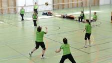 Foto: due squadre durante una partita di netzball