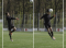 Fussball – Kopfballtraining: Technik – Nach Anlauf und einbeinigem Absprung mit Drehung (Zuwurf)