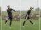 Fussball – Kopfballtraining: Technik – Nach Anlauf und einbeinigem Absprung mit Drehung (Flanke)