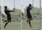 Fussball – Kopfballtraining: Technik – Nach Anlauf und einbeinigem Absprung mit Drehung (Pendel)