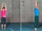 Sensomotorisches Training – Lage- und Bewegungssinn: Kleinere Unterstützungsfläche – Oben, unten durch