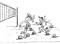 Beach volley – Riscaldamento: Il giardino dei palloni