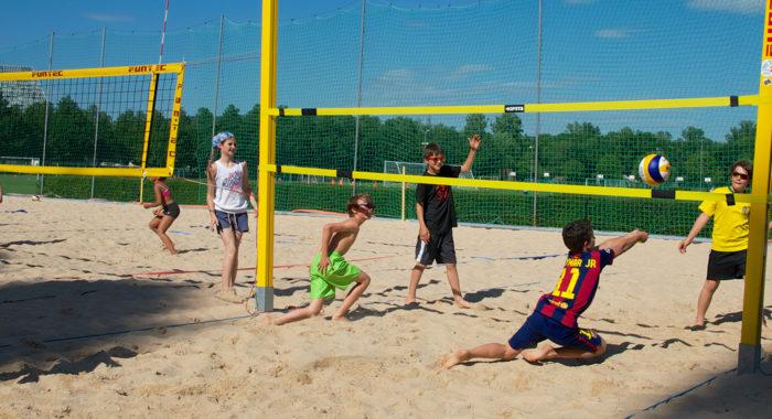 Beachvolleyball – Spiel «2:2»: Spielaufbau