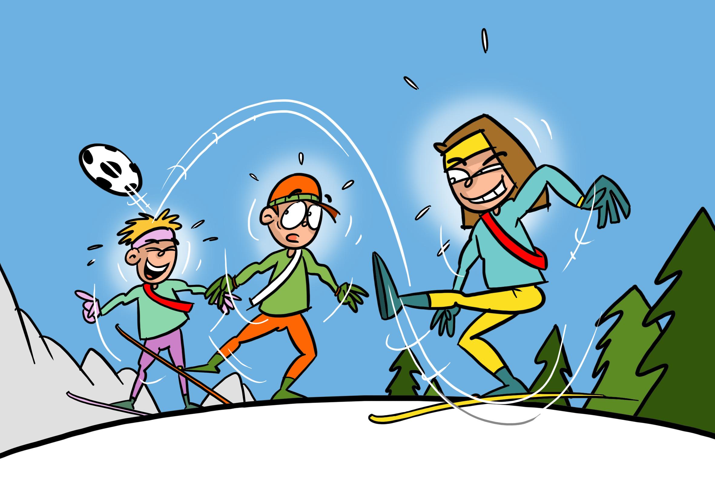 Skilanglauf Agieren Spielformen Langlauffussball