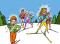 Ski de fond: Agir – Jeux: Slalom humain
