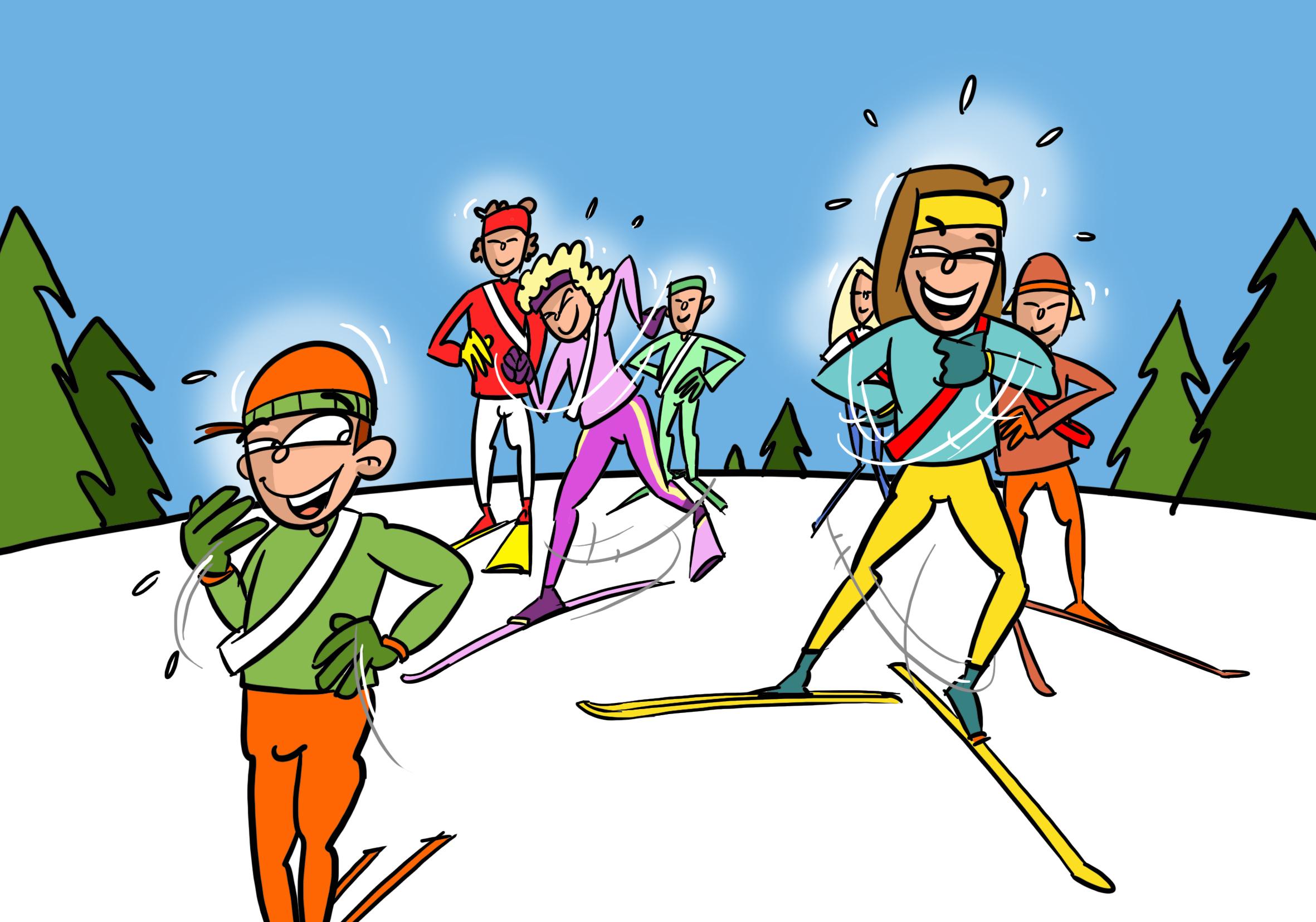 Ski de fond agir jeux slalom humain - Jeux qui ne prennent pas beaucoup de place ...
