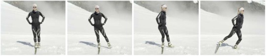 Reihenbild: Bewegungsablauf in der Phase «Stabilisieren» beim Skating.